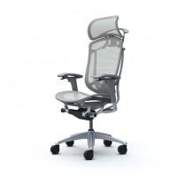 Кресло компьютерное CONTESSA SEKONDA Light grey, сарый каркас