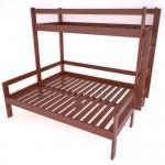 Двухъярусная кровать из дерева от производителя. Розница и опт