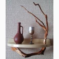 Декоративная полочка из натурального дерева