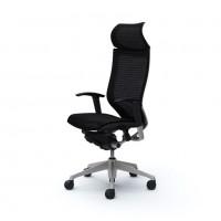 Кресло офисное OKAMURA CP Black, серебряная