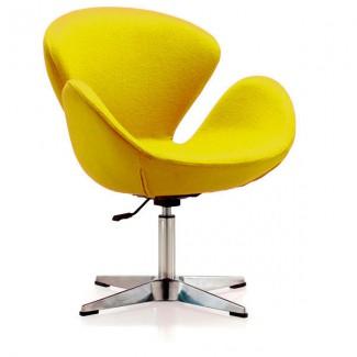Кресло мягкое для дома Сван, цвет желтый