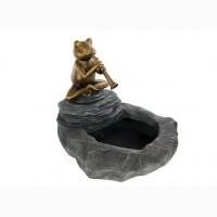 Светодиодный садовый фонтан Лягушка Melinera серый-медный M21-300051